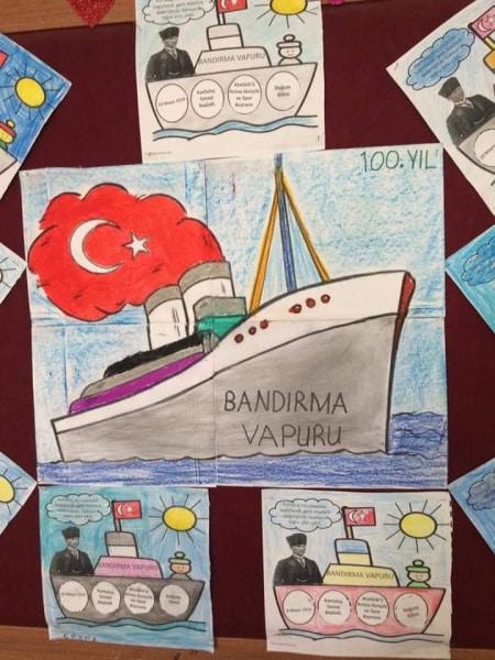 1 D Sinif Ogrenciler Boyama Sayfasinin Ataturk Un Samsun A